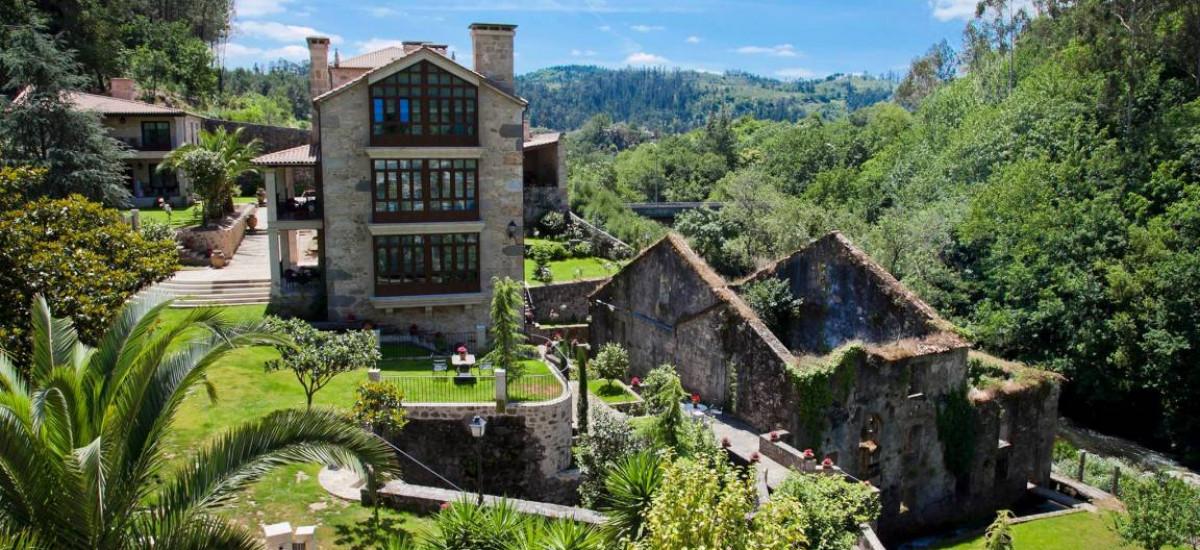 Hoteles en Caldas de Reis Rusticae jardin Torre do Rio