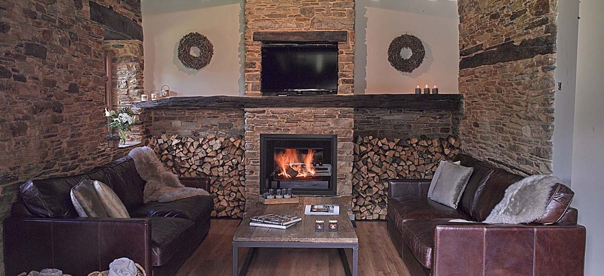 Casona de Labrada Full Rental Cottage Fireplace