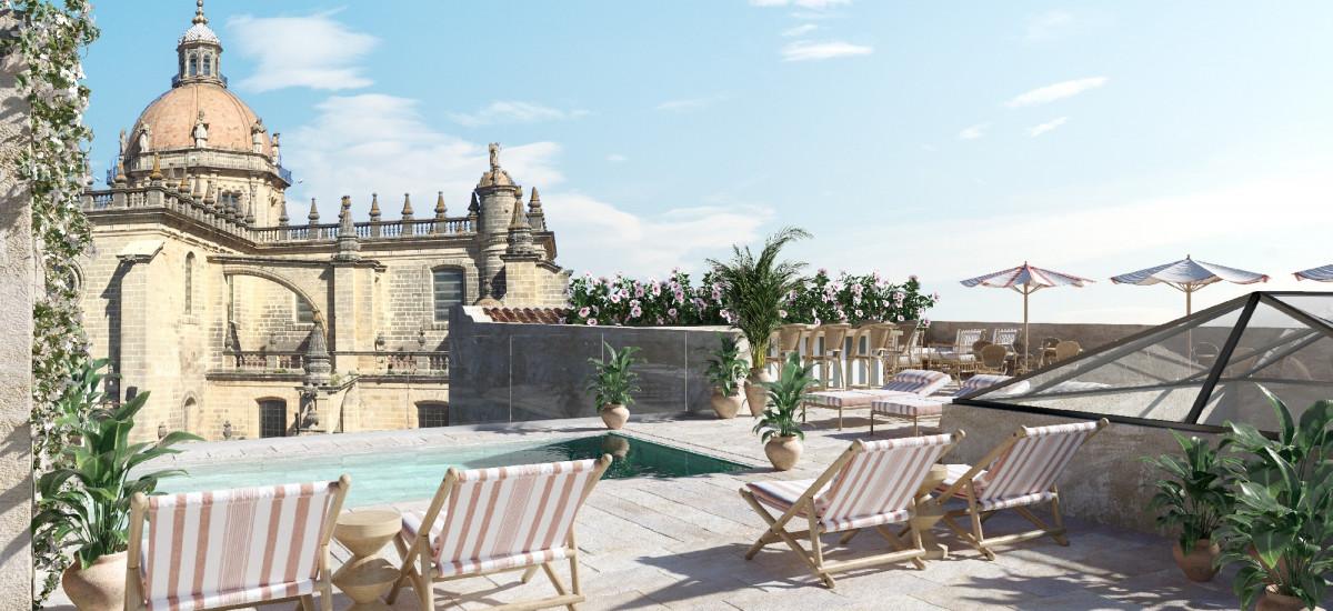 Hoteles en Jerez de la Frontera Hotel Tío Pepe Terraza