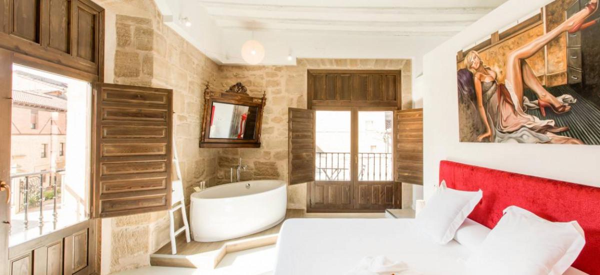 Hoteles en Cuzcurrita de Rio Tirón Teatrisso habitacion Rusticae