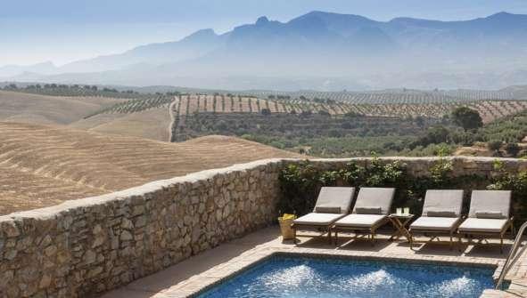 Hoteles en Albolote Cortijo del Marqués piscina