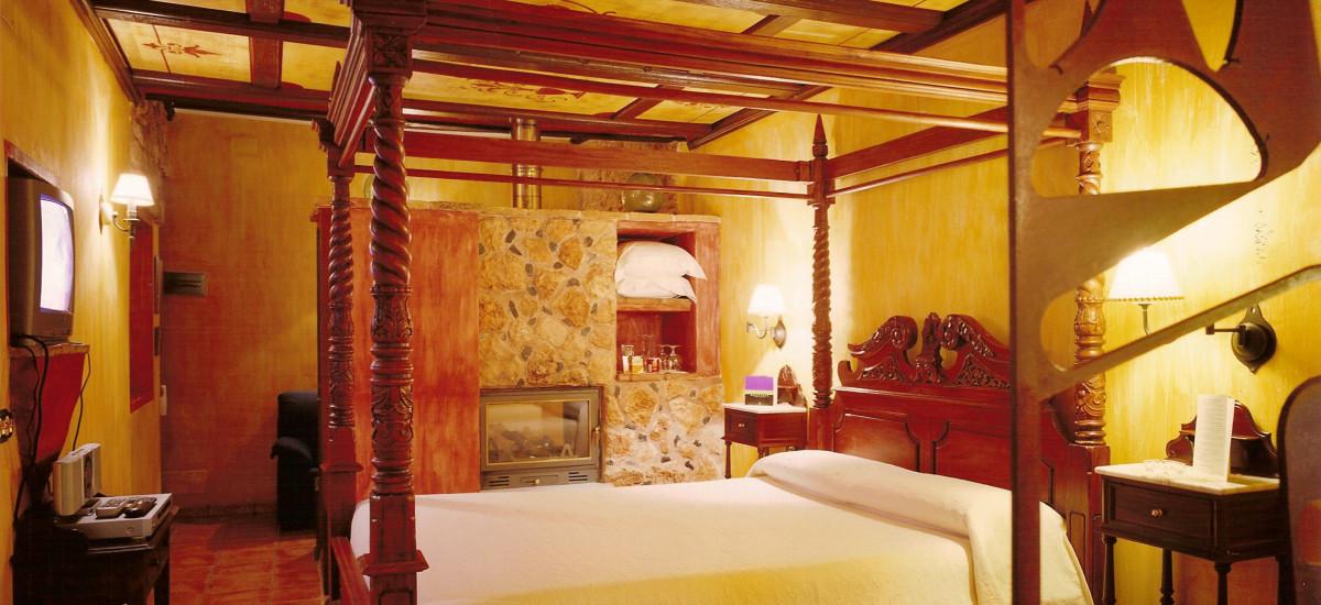 hoteles con encanto rurales románticos en Almagro habitación