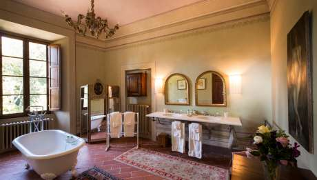 Rusticae Italia Toscana Hotel Borgo Pignano rural baño