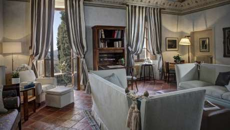 Rusticae Italia Toscana Hotel Borgo Pignano con encanto salon
