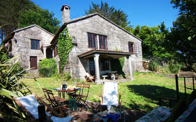 Te cuento 3 Xesteira Casa Rural en Cotobade Pontevedra Jardin