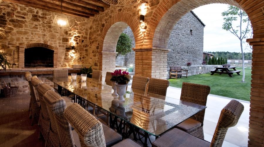 Rusticae Lleida Hotel con encanto Comedor exterior