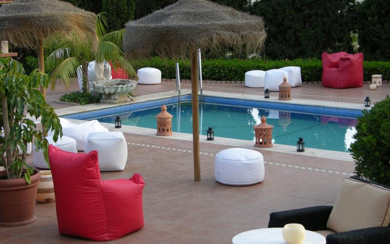 Ländliches Haus zur vollen Miete Casa de los Bates Schwimmbad