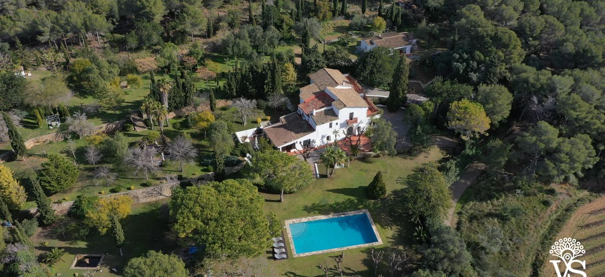 Rural House for Full Rental Country House Can Parès Aerial View