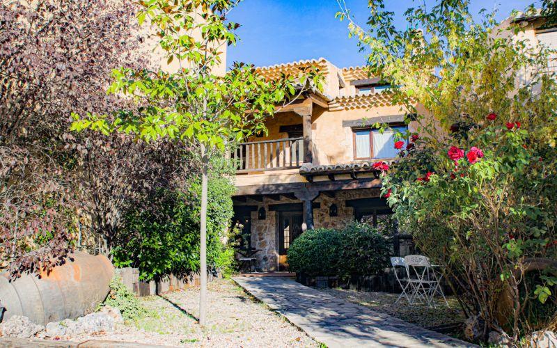 Casa Rural Casa Lavanda in El Olivar Guadalajara Spanien Garten