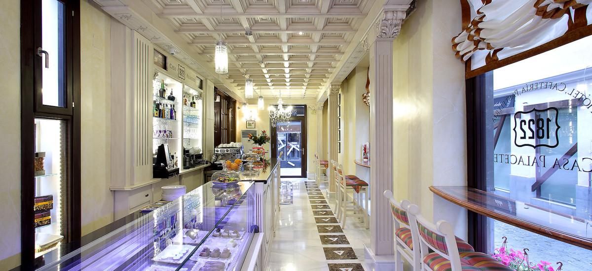 Rusticae charming Hotel Casa Palacete 1822 Granada cafeteria