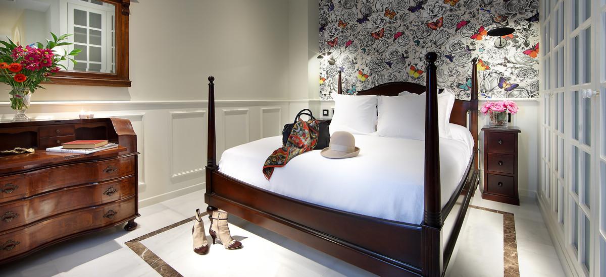 Rusticae charming Hotel Casa Palacete 1822 Granada bedroom