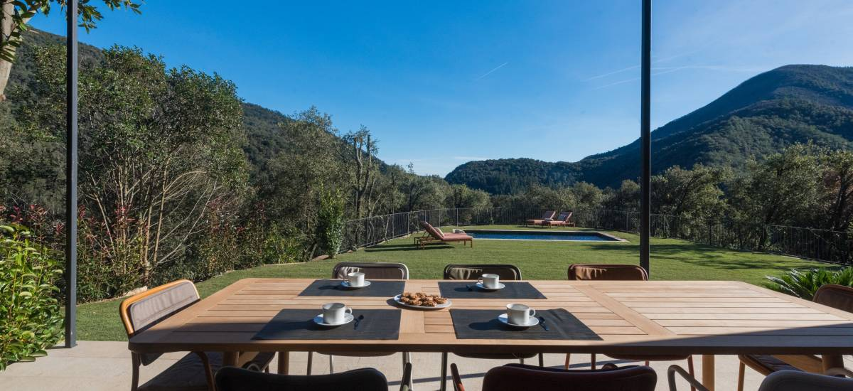 La Piconera Casa Rural Osor Girona Rusticae jardin piscina