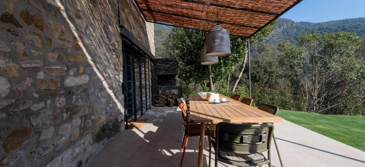 La Piconera Casa Rural Osor Girona Rusticae porche