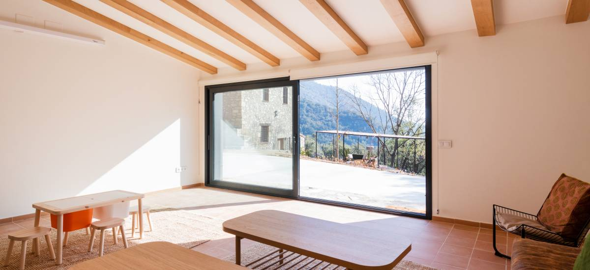 La Piconera Casa Rural Osor Girona Rusticae Salón4