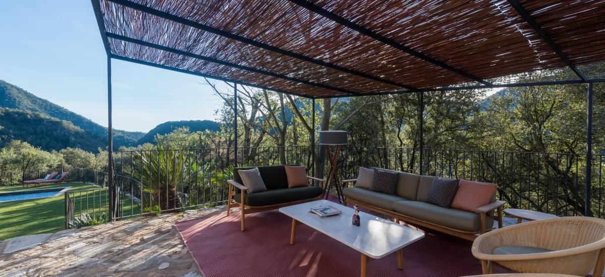 La Piconera Casa Rural Osor Girona Rusticae terraza