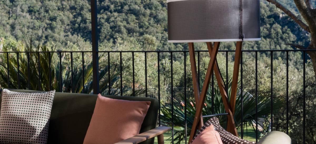 La Piconera Rural Home Osor Girona Rusticae jardin sofa