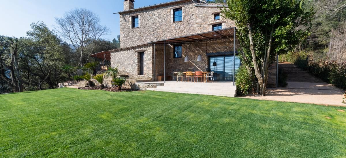 La Piconera Casa Rural Osor Girona Rusticae Jardín