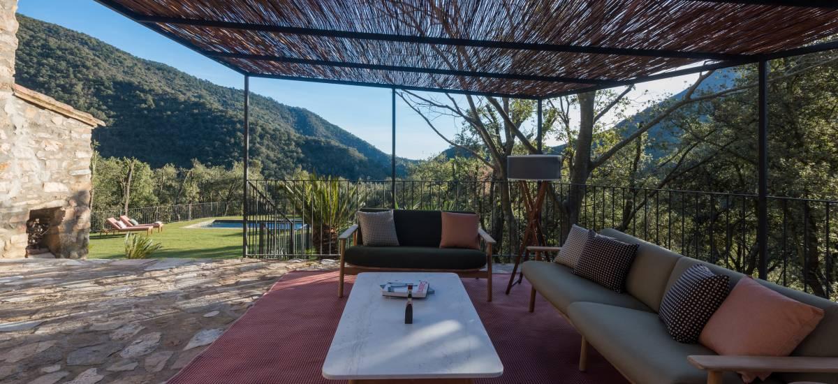 La Piconera Casa Rural Osor Girona Rusticae terraza2