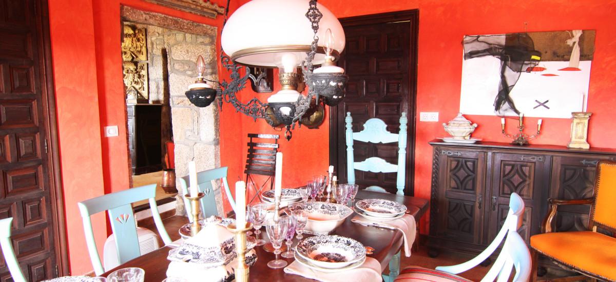 Rusticae Pontevedra Hotel Xesteira  rural dinning room