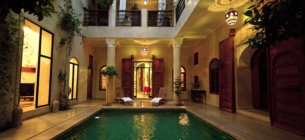 Rusticae Marruecos Hotel Dar Justo romántico piscina