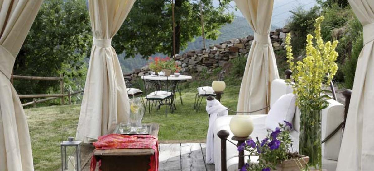 Rusticae Huesca charming Hotel El Acebo de Casa Muria terrace