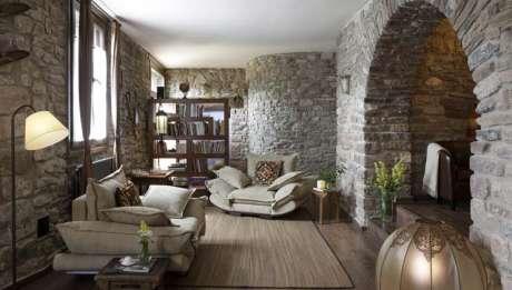Rusticae Huesca Hotel con encanto Salón habitación