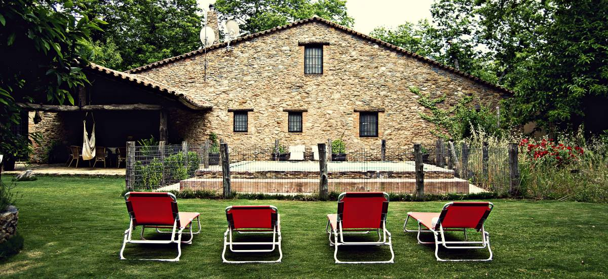 El Castañar de Aracena Huelva Casa Rural Jardin Castanar