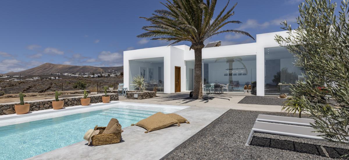 Finca El Rincón de Lanzarote en Tías piscina jardin