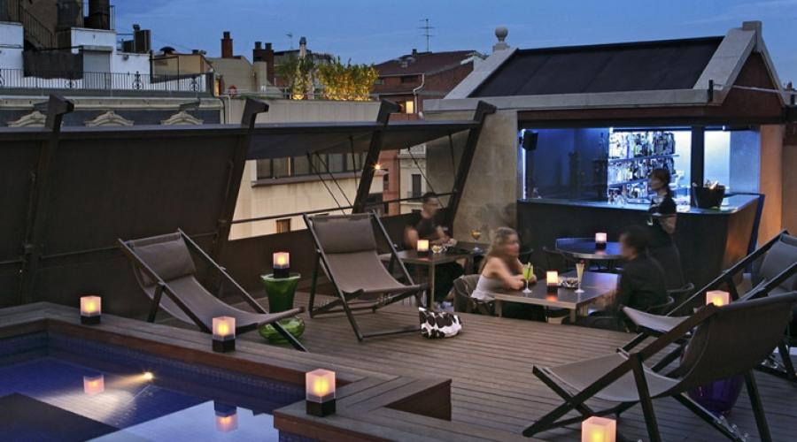Rusticae Barcelona Hotel con encanto Bar terraza