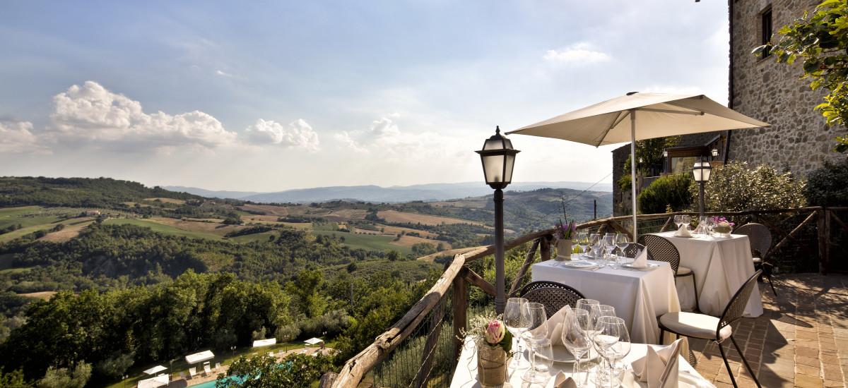 Aethos Saragano Hotel Tuscany Italy Terrace