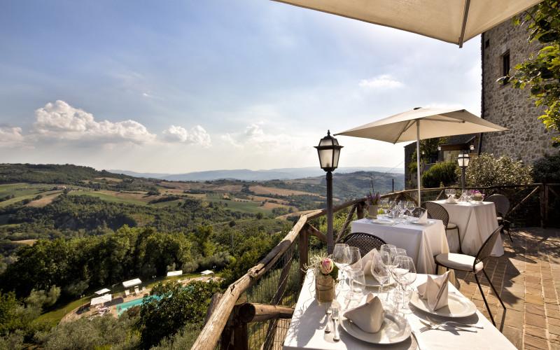 Aethos Saragano Hotel La Toscana Italia Terraza