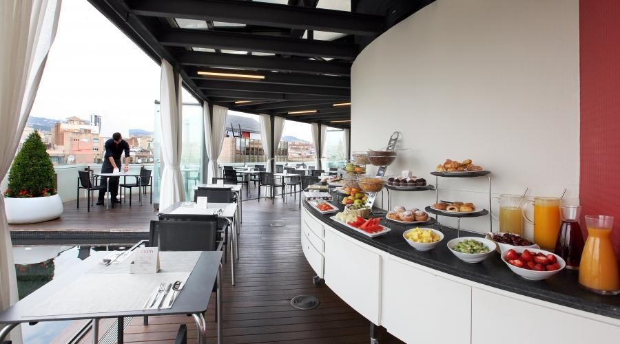 Rusticae Barcelona Hotel con encanto Terraza buffet