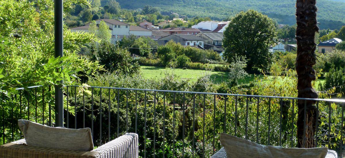 Casa Rural El Jardín del Convento caceres terraza jardin