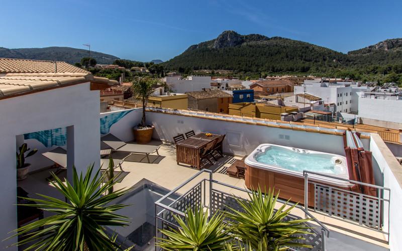 Casa Mardenit Whirlpool im Freien Hotel Mardenit Terrasse Marden