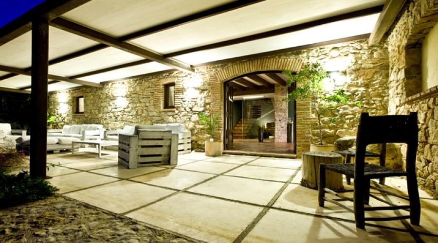 Rusticae Tarragona Hotel Mas Mariassa romantico Terraza