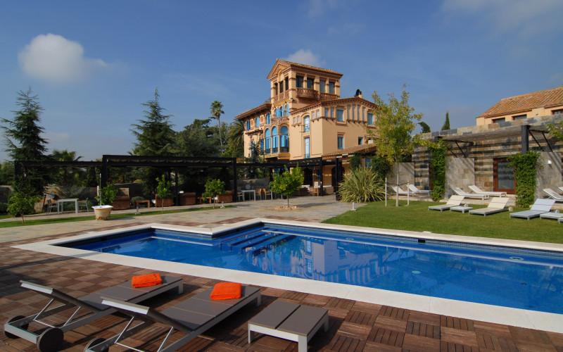 Hotel Mas Passamaner La Selva Del Camp piscina Jardin