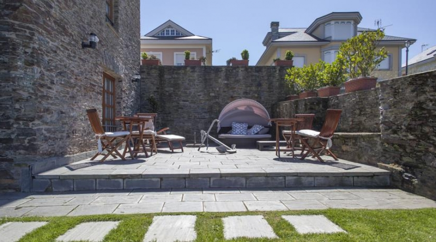 Rusticae Asturias Hotel Pleamar de playa Terraza