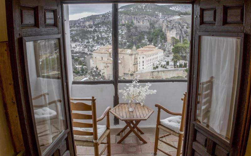 Rusticae charming Hotel Posada San José Cuenca terrace