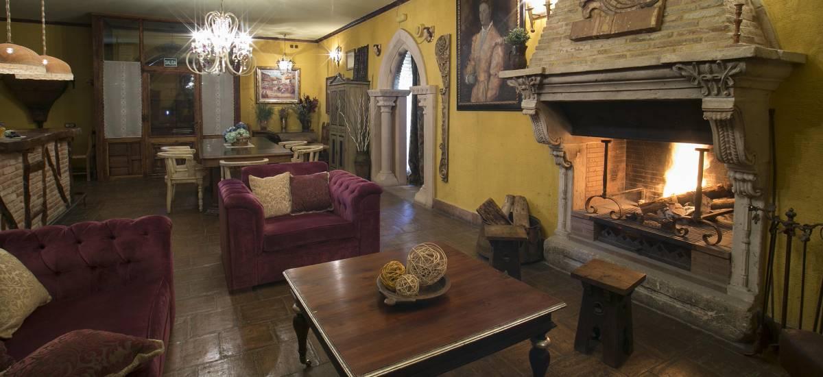 Hotel Hoces del Duratón Rusticae chimenea