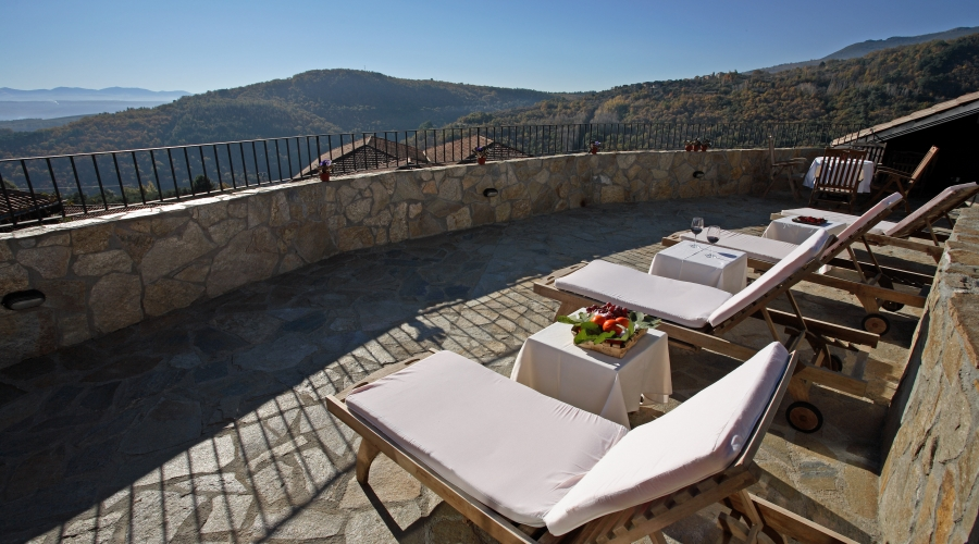 Rusticae Salamanca Hotel Villa Mogarraz con encanto Terraza