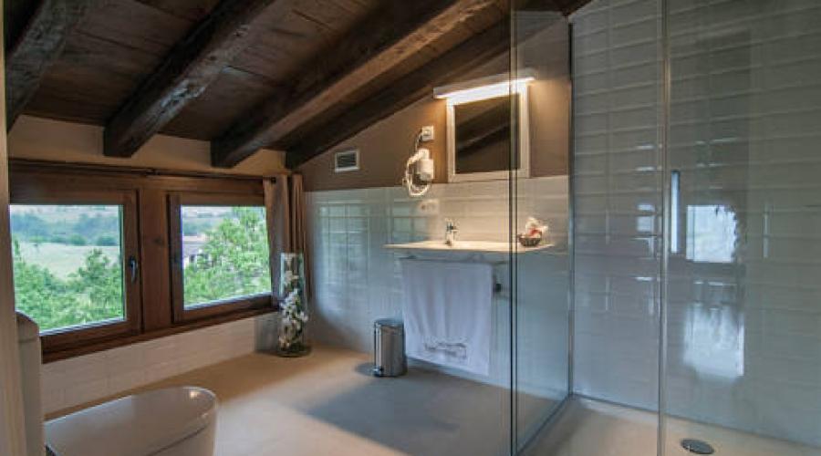 Rusticae Gipuzcoa Hotel con encanto Baño