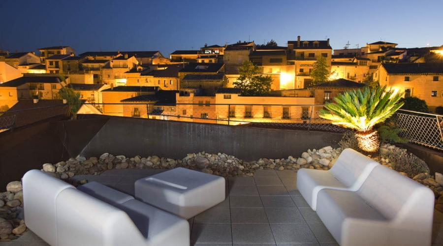rusticae alava hotel viura con encanto terraza