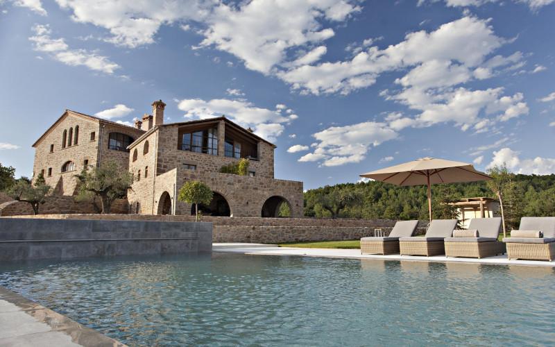 La Vella Farga HOtel Masía en Lleida Rusticae Jardin Piscina