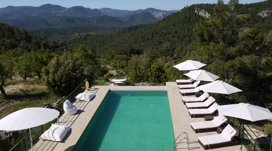 Rusticae Teruel Hotel Mas de la Serra romantico piscina