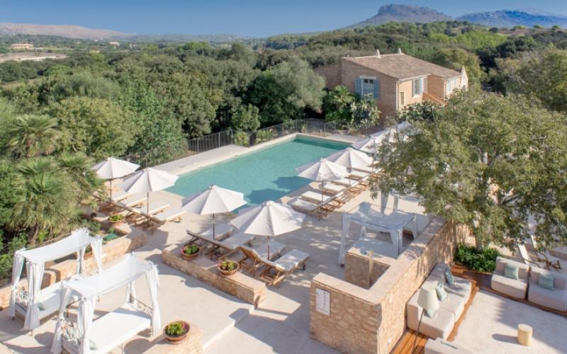 Hotel Rural Predi Son Jaumell outside Aereal Landscape