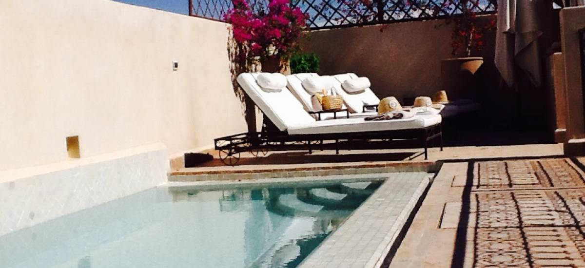Rusticae Marruecos Hotel Riad Abracadabra charming swimming pool