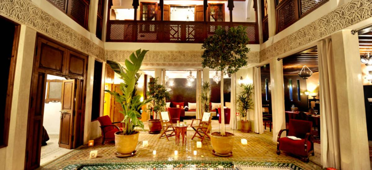 Rusticae Marruecos luxury Hotel Riad Belle Epoque hall