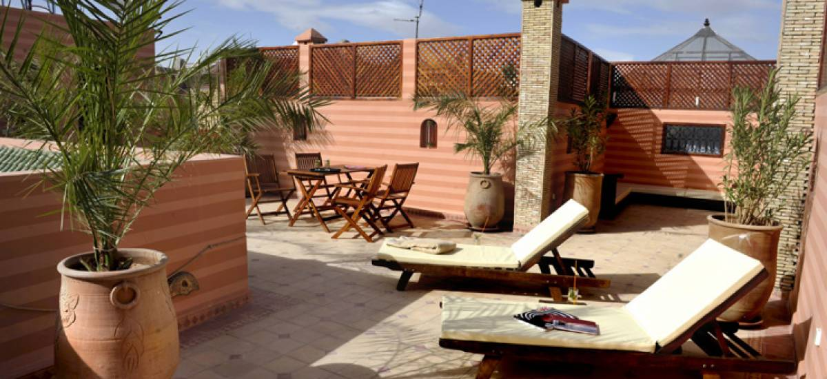Rusticae Marruecos luxury Hotel Riad Belle Epoque terrace