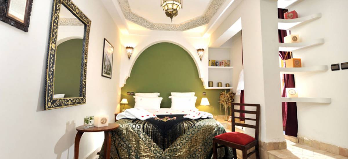 Rusticae Marruecos luxury Hotel Riad Belle Epoque bedroom