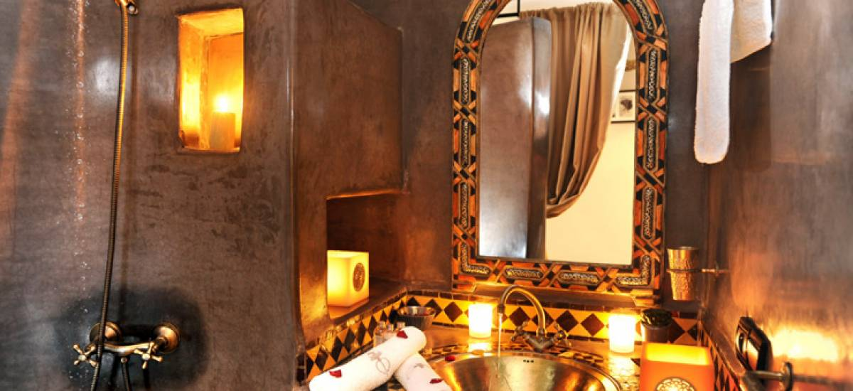Rusticae Marruecos luxury Hotel Riad Belle Epoque bathroom